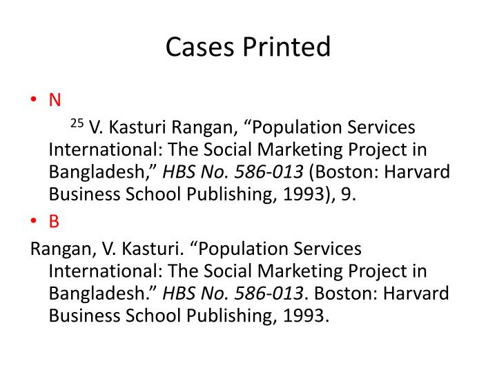Cases Printed