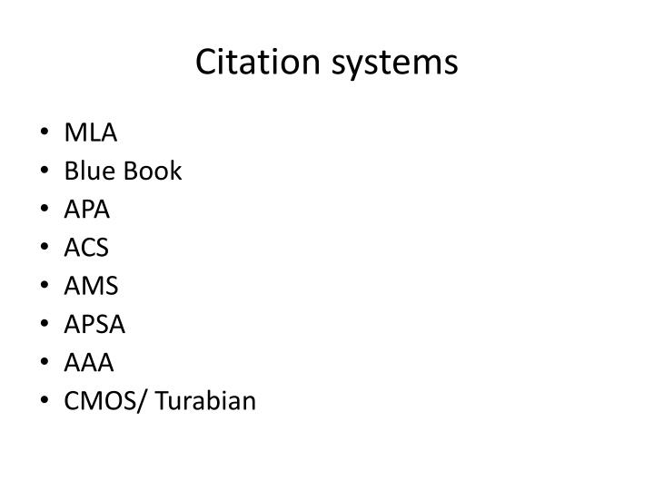 Citation systems