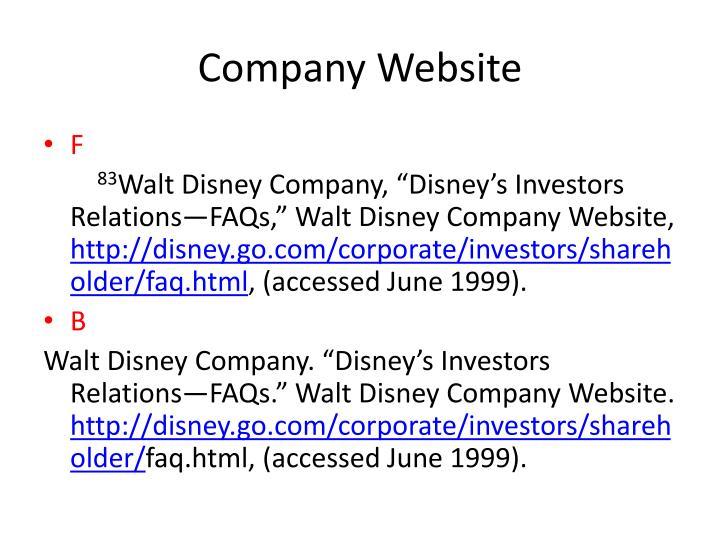 Company Website