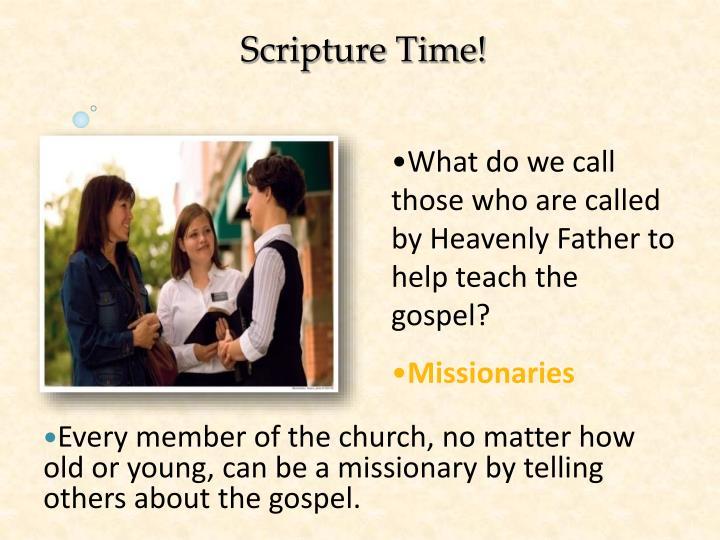 Scripture Time!