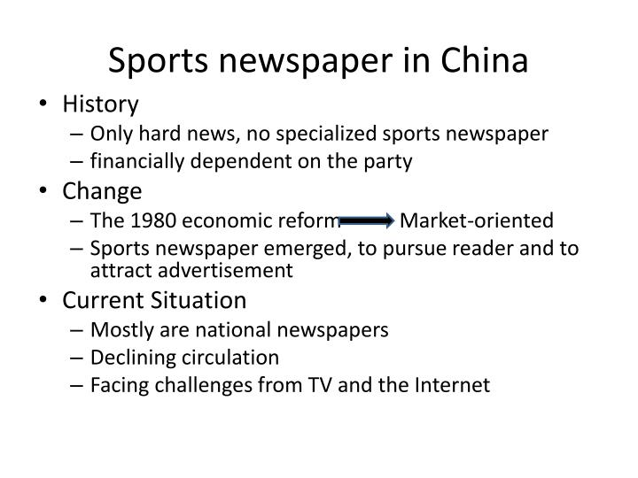 Sports newspaper in china