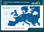 wind power installations in europe 2010