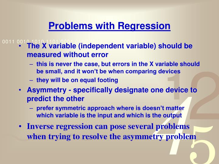 Problems with Regression