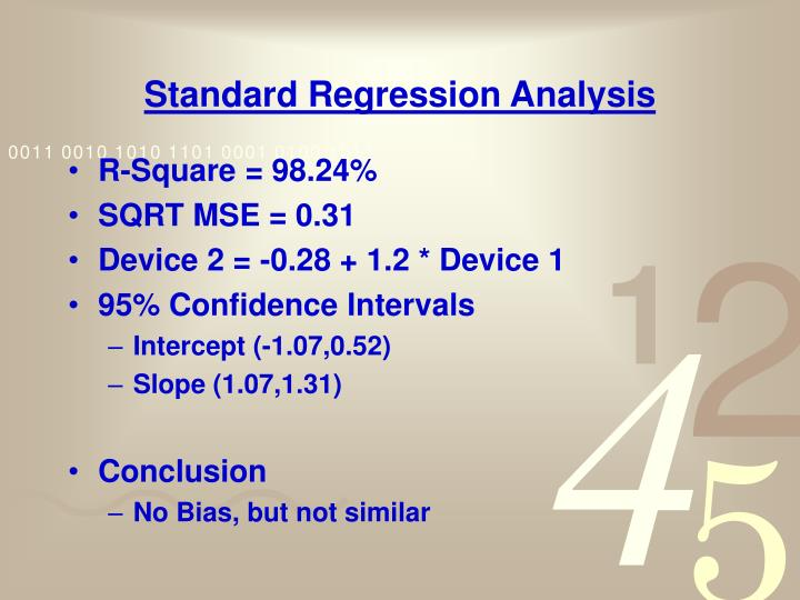 Standard Regression Analysis