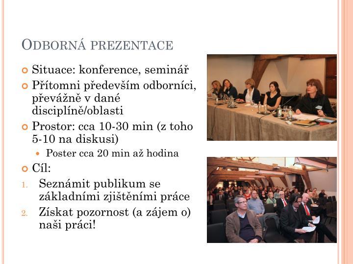 Odborná prezentace