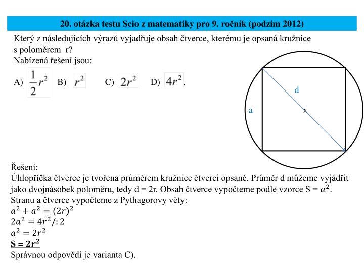 20. otázka testu