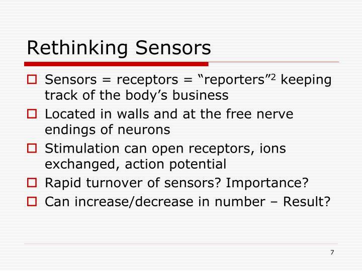 Rethinking Sensors