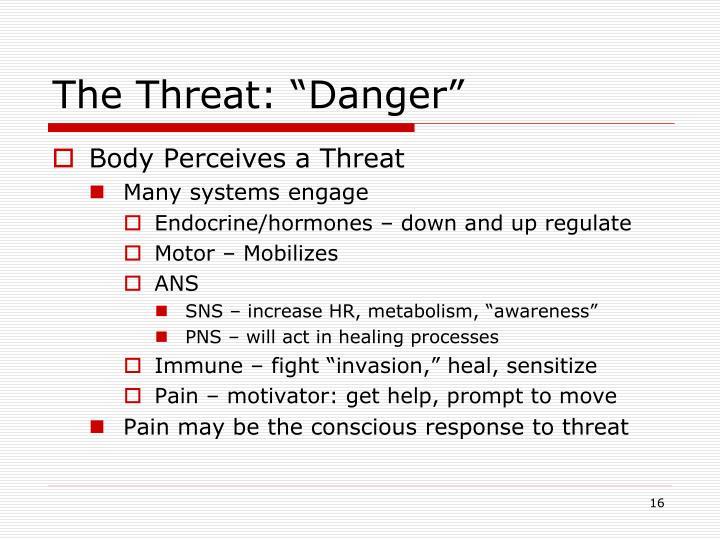 "The Threat: ""Danger"""