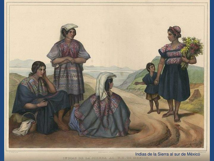 Indias de la Sierra al sur de México