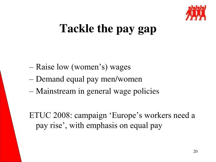 Tackle the pay gap