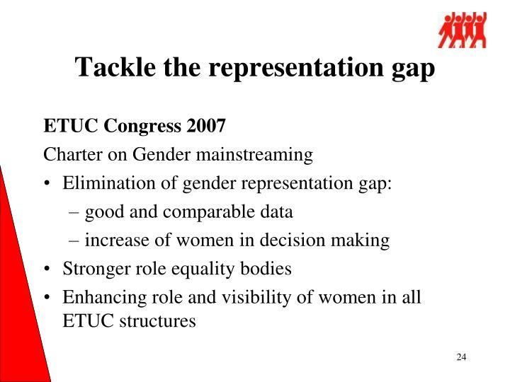 Tackle the representation gap