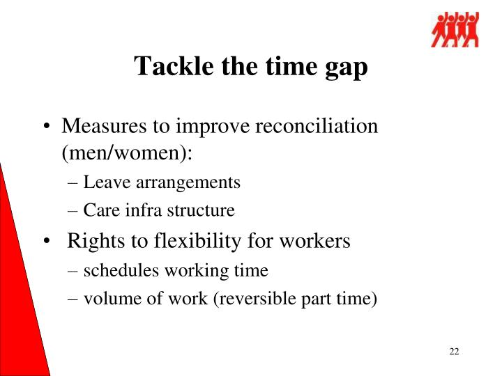 Tackle the time gap