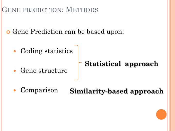 Gene prediction methods