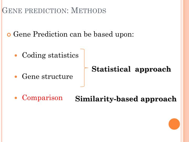 Gene prediction methods1