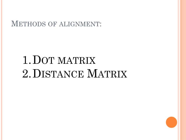 Methods of alignment:
