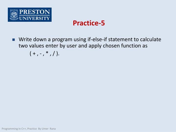 Practice-5