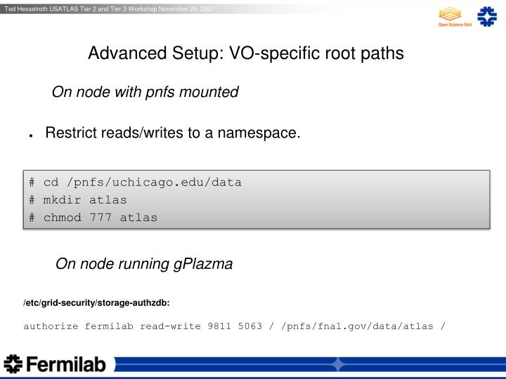 Advanced Setup: VO-specific root paths