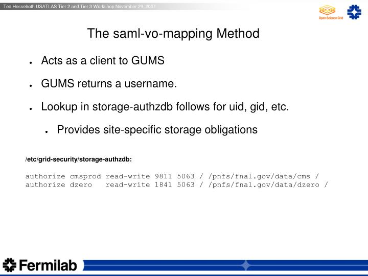 The saml-vo-mapping Method