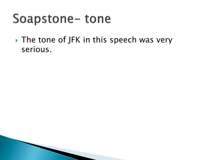 Soapstone- tone