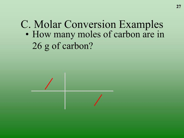 C. Molar Conversion Examples