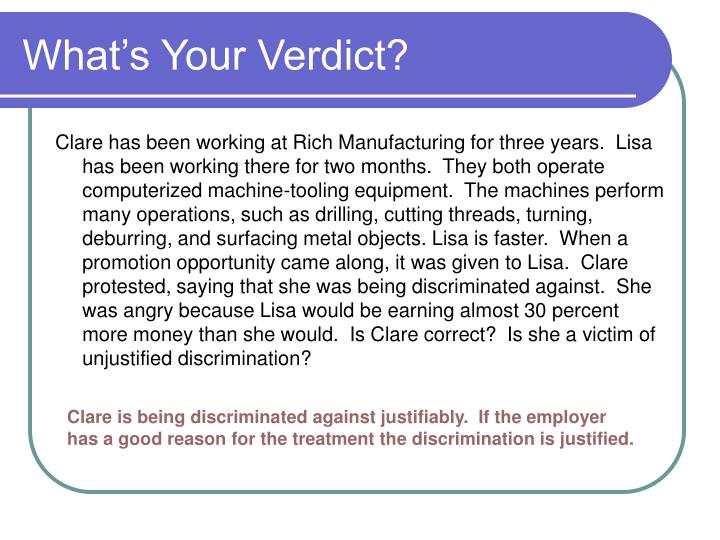 What's Your Verdict?