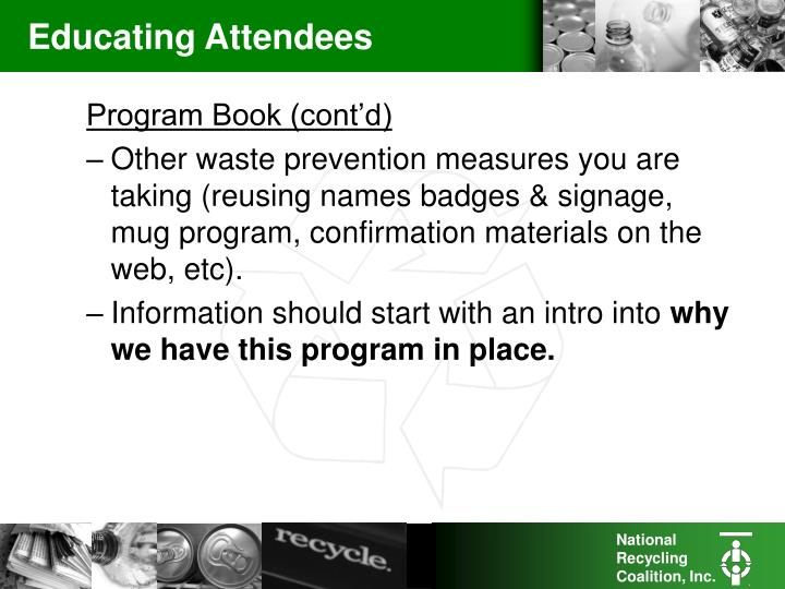 Educating Attendees