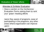 evaluation of green efforts