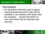 evaluation of green efforts1