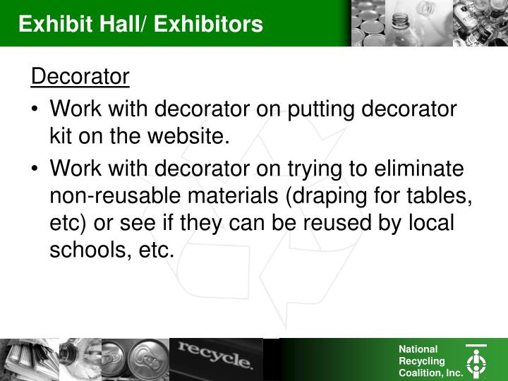 Exhibit Hall/ Exhibitors