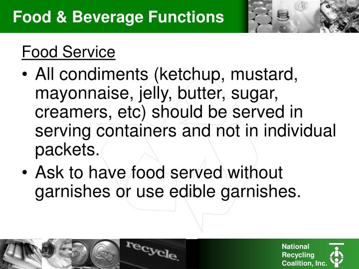 Food & Beverage Functions
