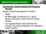 hotels convention centers