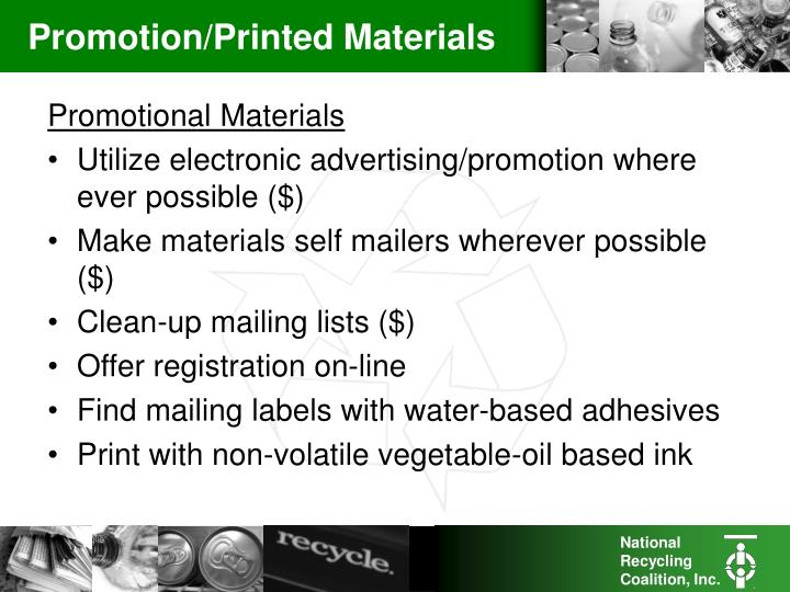 Promotion/Printed Materials