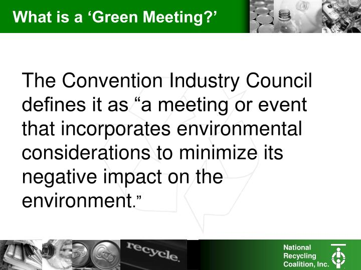 What is a green meeting