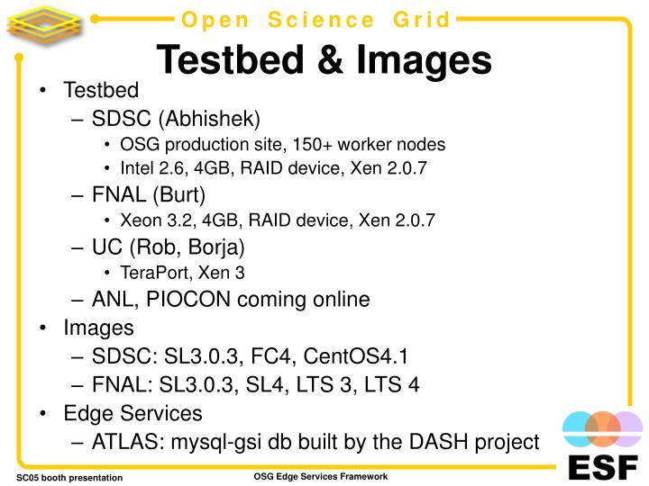 Testbed & Images