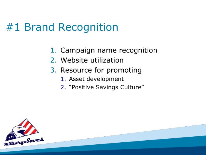 #1 Brand Recognition