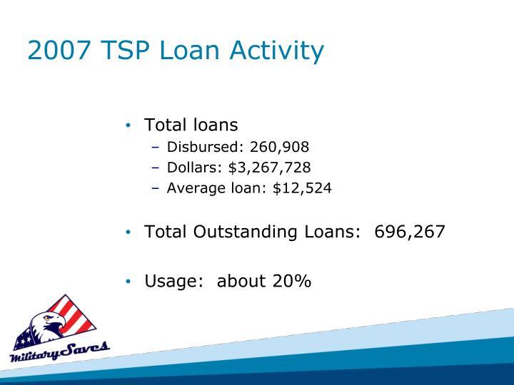 2007 TSP Loan Activity