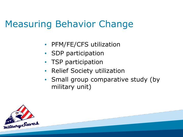Measuring Behavior Change