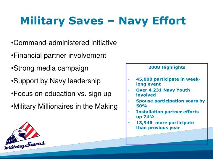 Military Saves – Navy Effort