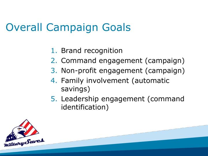Overall Campaign Goals