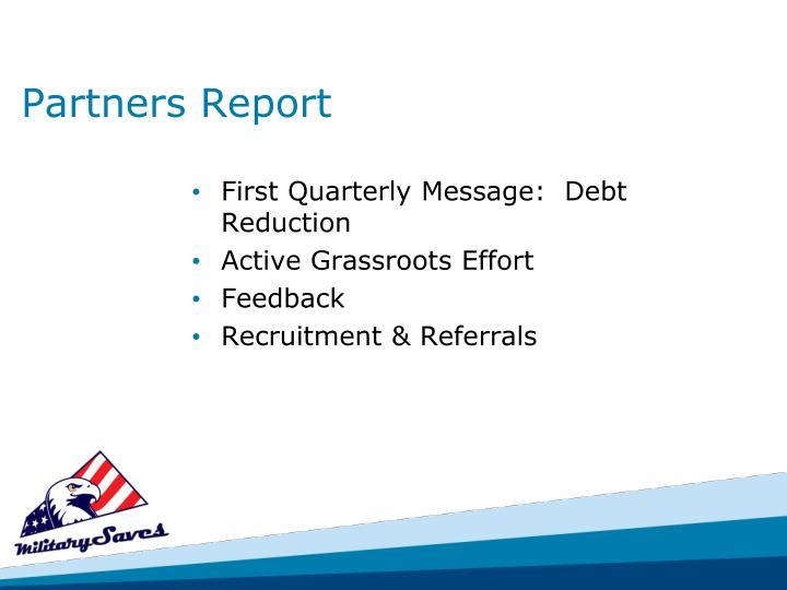 Partners Report