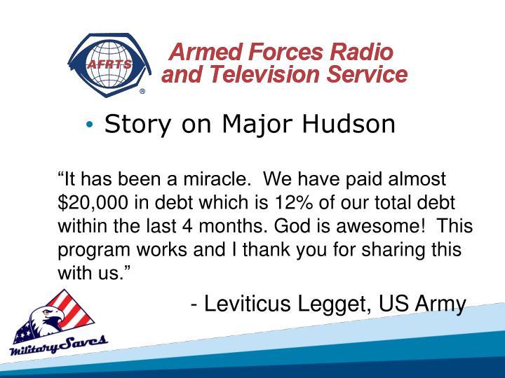 Story on Major Hudson