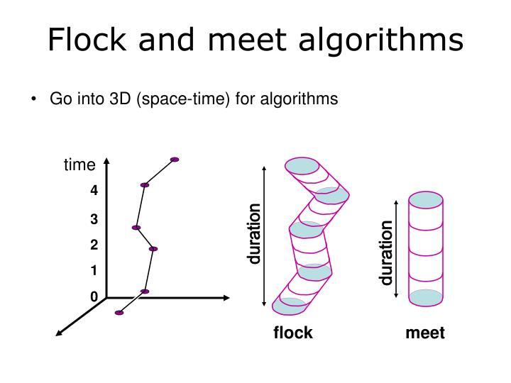 Flock and meet algorithms