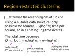 region restricted clustering12