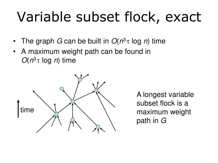 Variable subset flock, exact