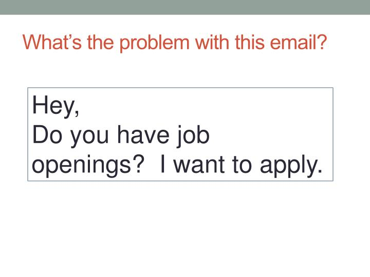 What's the problem with this email?