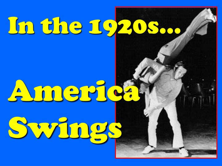 In the 1920s…