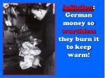 inflation german money so worthless they burn it to keep warm