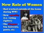 new role of women