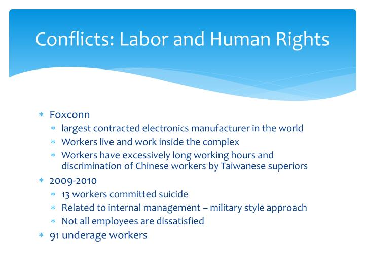 Conflicts: Labor and Human Rights