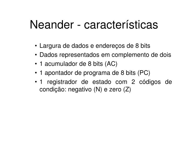 Neander caracter sticas